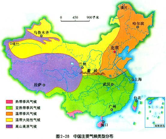 中国干湿地区空白图_中国的气候(一)