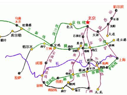 中国铁路网地图全图 中国地图全图各省 中国铁路网地图全图-中国铁路