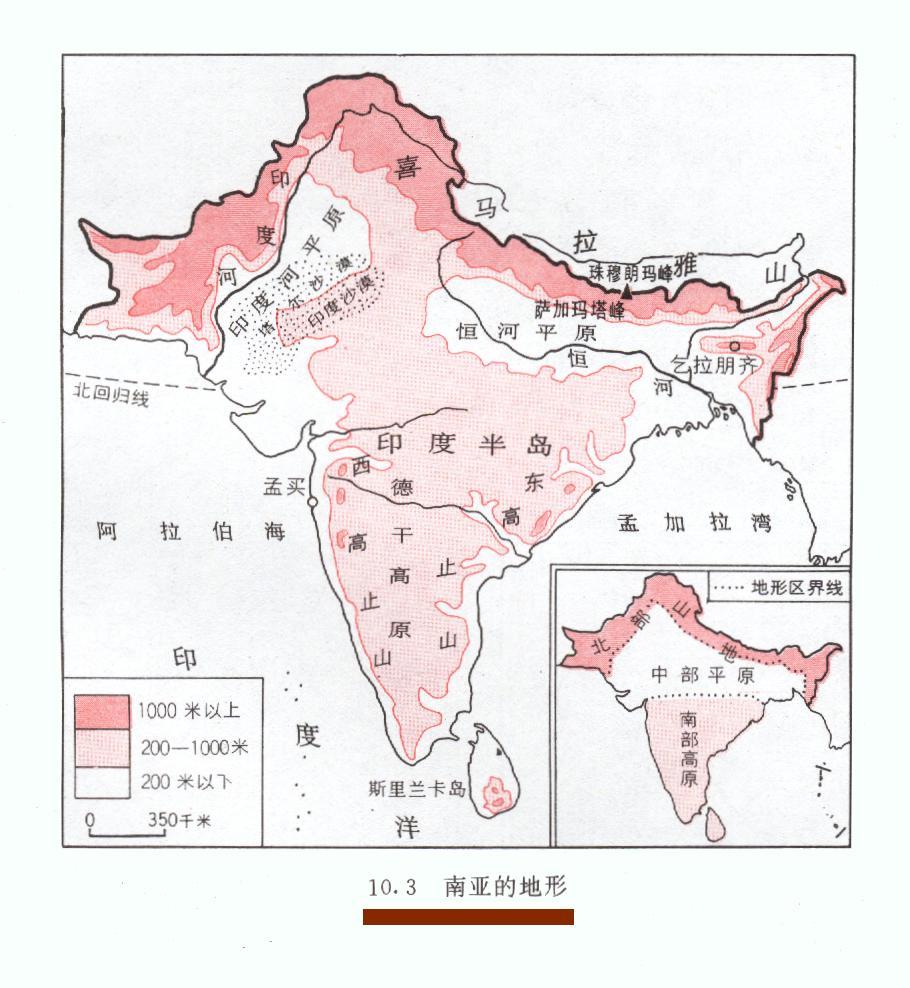 南亚,中亚