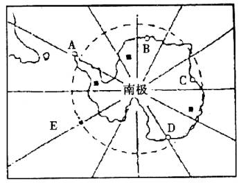 图中表示经线的字母是