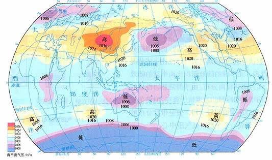 气压带和风带图片